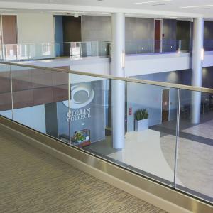 China Indoor Glass Railing Balcony / U Channel Aluminium Profile for Glass Railing wholesale