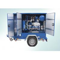 China Low Operating Cost Transformer Mobile Oil Purifier With Siemens PLC Auto Control System wholesale