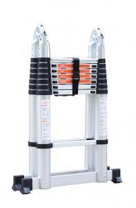 China Silver Aluminium 5m Multi Purpose Telescopic Ladder wholesale