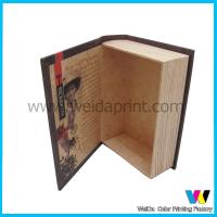 Quality Book Shaped Decorative Cardboard  Paper Packaging Boxes for Gift for sale