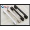 China Nickle Brushed Kitchen Cabinet Door Handles , Square Kitchen Cupboard Handles Zinc knobs wholesale