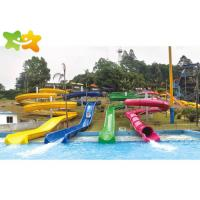 China Combination  Plastic Pool Water Slide , Large Pool Slides  High Mechanical Strength wholesale