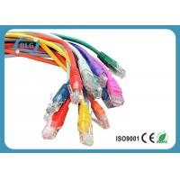 China Fluke Tested Lan Patch Cord Cable UTP Cat5e Full Copper with Snagless Mold Injection Type wholesale