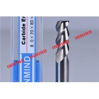 China 30º Helix Angle End Milling Cutter / Aluminum Cutting End Mills HRC50 Hardness wholesale