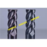 China 10mm  / 12mm Cnc Milling Cutting Tools , Carbide High Hardness Helical End Mills With SiN Coating wholesale