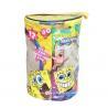 China Spongebob Theme Exquisite Printing Toy Bricks Zipper Storage Bags for Children Building Blocks wholesale