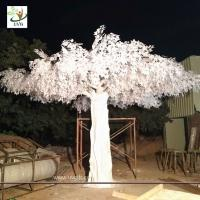 China UVG 5.5 metres high huge white silk banyan artificial tree sale for window display GRE064 wholesale