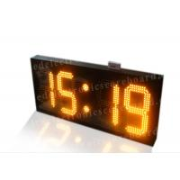 China Amber Color Electronic Countdown Timer , Outdoor Type Countdown Led Clock wholesale