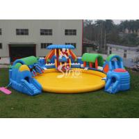 China Custom Design Giant Inflatable Water Park Above Ground With Big Pool For Kids N Adults wholesale