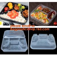China Supermarket display wholesale storage fruit food defrosting plastic tray,manufacturer supply bpa free reusable 3 compart wholesale