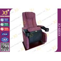 China An Ergonomic Comfortable Aircraft Type Headrest Cinema Theater Chair Folding Seat wholesale