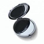 custom make in mirror factory metal silver diamonds cosmetic mirror for girl`s
