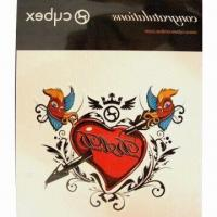 China Nontoxic Tattoo Sticker, Made of PVC and PE Materials, OEM Orders are Welcome wholesale