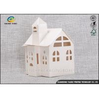 China Candy / Cookie Folding Gift Boxes Special House Shaped Strictly Quality Control wholesale