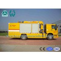 China Yellow Large Flow Drainage rescure truck With Anti Slip Handrails HOWO wholesale