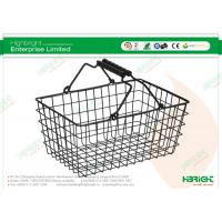 Quality Black Gift Cosmetic Shop Wire Shopping Baskets 300×200×145mm for sale