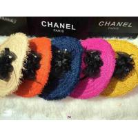 China New arrival 2014 designer double C Hand-made lady woven straw  fashionab dame bowknot hats wholesale