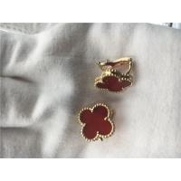 Buy cheap Van Cleef Arpels Vintage Alhambra earrings 18k yellow gold with carnelian from wholesalers