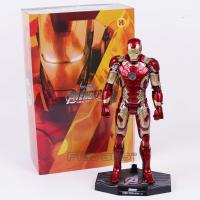 China wholesale   new  Hot Toys Avengers Iron Man Mark MK 43 with LED Light PVC Action Figure Collectible Model Toy wholesale