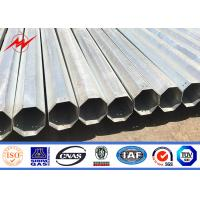 30ft 35ft 40ft Electrical Power Pole Hot Dip Galvanized Steel For Distribution