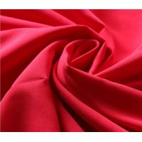 China 230T Red Polyester Rayon Spandex Fabric , Jersey Knit Fabric For Garment wholesale