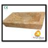 Quality Xiamen Kungfu Stone Ltd supply Yellow Marble Bathroom Basin For Indoor Kitchen,Bathroom wholesale