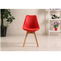 China Red Beech Legs Tulip Dining Chair wholesale