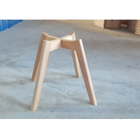 China Tulip Beech Wooden Chair Frame Impact Resistance With Clear Texture wholesale