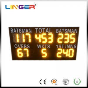China Commercial Led Cricket Scoreboard , Electronic Sports Scoreboard IP54 / IP65 Waterproof wholesale