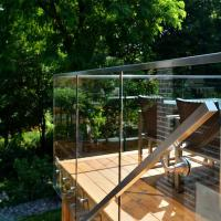 China Modern Deisgns Side Mount Stainless Steel Standoff Glass Railing for Terrace / Balcony wholesale