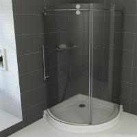 China Frameless Round Sliding Shower Enclosure with 10mm Clear Glass and Stainless Steel Hardware wholesale