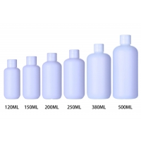 China Flip Top Cap 500ml White HDPE Plastic Bottles For Baby Personal Care Products wholesale