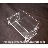 China Simple Transparent Business Name Card Holder Acrylic Display Case wholesale