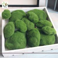 China UVG different size fuzzy artificial decorative moss balls fake rock for aquarium landscaping GRS039 wholesale