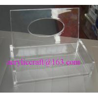 China Clear acrylic tissue box acrylic napkin case for home and hotel wholesale