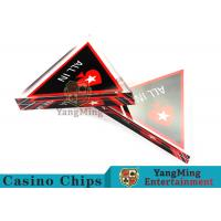 Unique Style Casino Game Accessories , Triangular Shape Poker Playing Cards for sale