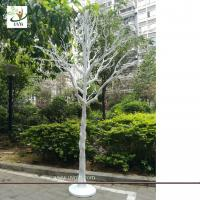 China UVG white plastic model artificial trees with dry tree branches for christmas decoration DTR35 wholesale