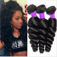 China Free Shedding  Human Brazilian Hair Extensions Natural Double / Strong Weft wholesale
