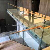 China Safety Frameless Toughened Glass Railing withStainless Steel Standoff wholesale