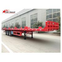 China Heavy Equipment Transport Drop Deck Semi Trailer Manually Operated Or Hydraulic Type wholesale