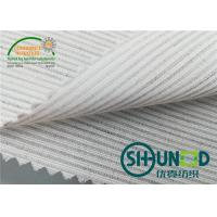 China Smooth Canvas Interlining For Tailoring Materials / Men Suits Fusible Interlining Fabric wholesale