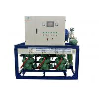 China R404a Bitzer refrigeration compressor unit for -18℃ lamb cold storage with PLC auto control system wholesale