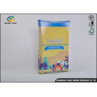China Bright Coloured Cosmetic Packaging Boxes For Cosmetic / Mask Product wholesale