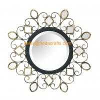 China China manufacturer beautiful design antique decorative round shape wall mirror wholesale