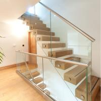 China Side Mounted Tempered Glass Stainless Steel Standoff Stair Railing wholesale