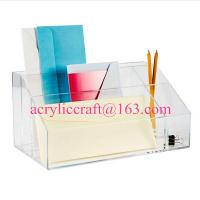 China Transparent multi-function acrylic stationery with note pad holder & pen holder wholesale