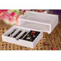 China Cute White Wooden Jewelry Organizer Box , Customized Jewelry Gift Boxes wholesale