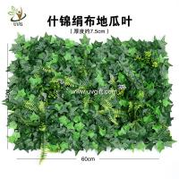China UVG garden ornament various artificial plastic grass mat for wall decoration GRS22 wholesale