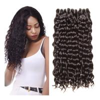 Quality Human Hair Brazilian Water Wave 100% Human Hair Weave Bundles Natural Hair Extensions 1B# for sale