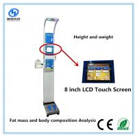 China Ultrasonic height weight scales with blood pressure , temperature, fat mass  for medical  Equipment wholesale